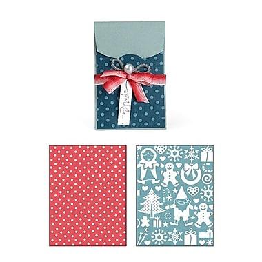 Sizzix® XL Bigz Die With Bonus Textured Impressions, Gift Card Holder and Snow Village Set