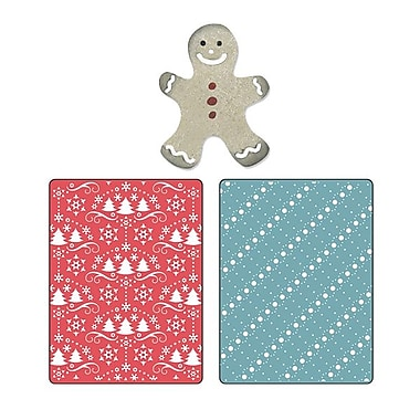 Sizzix® Embossing Folder With Bonus Sizzlits Die, Snow and Trees Set