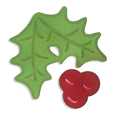 Sizzix® Embosslits Die, Holly and Berries