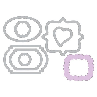 Sizzix® Framelits Die Set With Stamps, Birthday & Frames