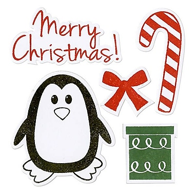 Sizzix® Framelits Die Set With Stamps, Penguin & Candy Cane