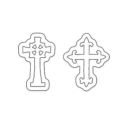Sizzix® Movers & Shapers Magnetic Die Set, Mini Ornate Crosses