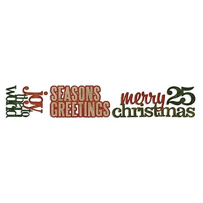 Sizzix® Sizzlits Decorative Strip Die, Stacked Words: Christmas