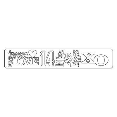 Sizzix® Sizzlits Decorative Strip Die, Stacked Words: Valentines (658274)