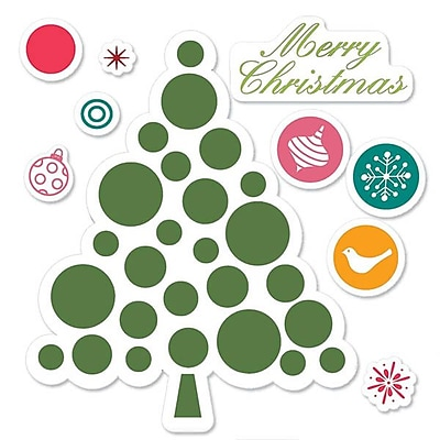Sizzix® Framelits Die Set With Stamps, Merry Christmas Tree