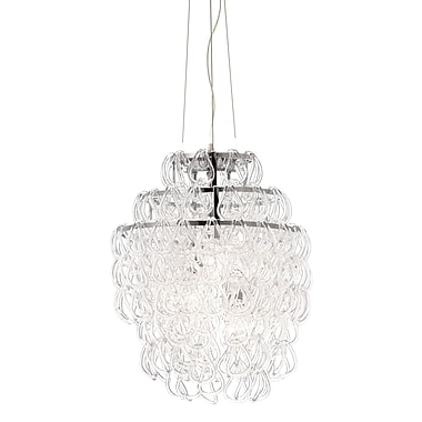 ZuoMD – Lampe de plafond incandescente Cascade 50030 de 60 W, transparent