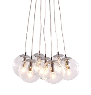 Zuo® 50081 Decadence 40 W Incandescent Ceiling Lamp, Clear