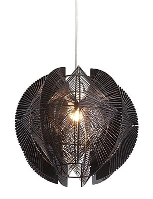 Zuo® 50095 Centari 60 W Incandescent Ceiling Lamp, Black