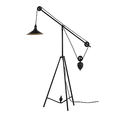 Zuo® 60 W Jasper Floor Lamp, Antique Black Gold