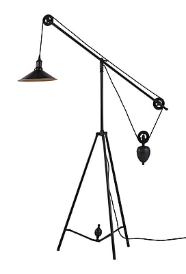 Zuo® 60 W Jasper Floor Lamp, Antique Black Gold