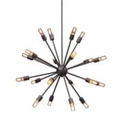 Zuo® 98238 Sapphire 25 W Incandescent Ceiling Lamp, Large Rust