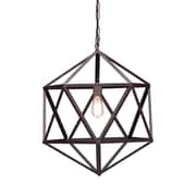 Zuo® 98241 Amethyst 40 W Incandescent Ceiling Lamp, Small Rust