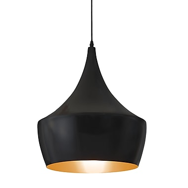 Zuo® 98247 Copper 60 W Incandescent Ceiling Lamp, Matte Black