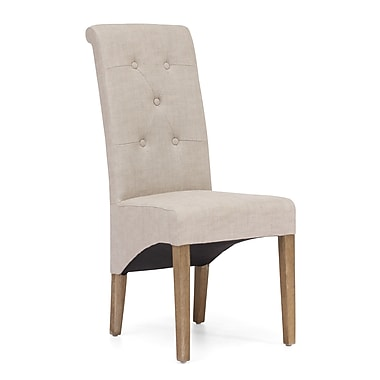 ZuoMD – Chaises en lin et polyester de la collection Hayes Valley, beige