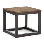 "Zuo® 19.7"" x 19.7"" Fir Wood Civic Center Side Table, Distressed Natural"