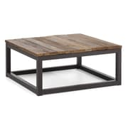"Zuo® 32.3"" x 32.3"" Fir Wood Civic Center Square Coffee Table, Distressed Natural"