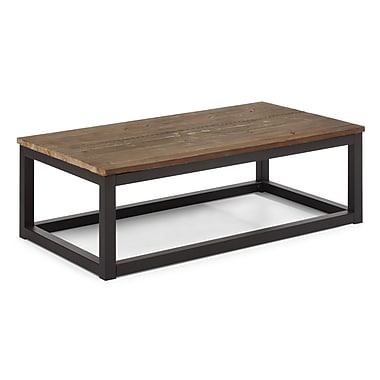 ZuoMD – Table basse longue Civic Center en bois de sapin, aspect vieilli naturel