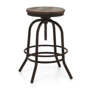 Zuo® Twin Peaks Fir Wood Counter Stool, Distressed Natural