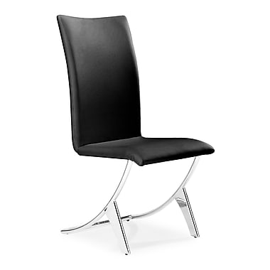 Zuo® Delfin Leatherette Dining Chairs, Black