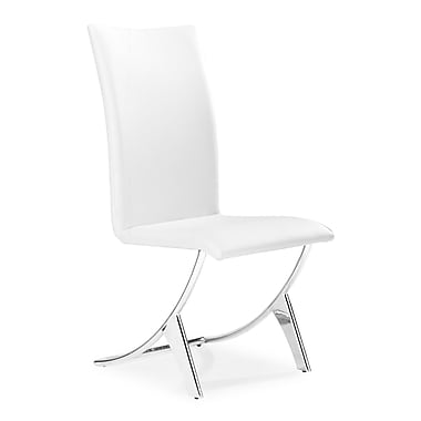 Zuo® Delfin Leatherette Dining Chairs, White