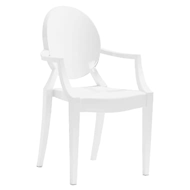 Zuo® Anime Polycarbonate Dining Chairs, White