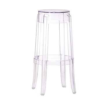 Zuo® Polycarbonate Anime Bar Chair, Transparent