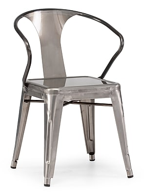 Zuo® Steel Helix Chairs, Gunmetal