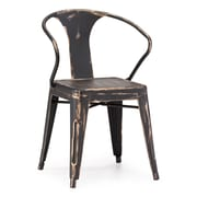 Zuo® Steel Helix Chairs, Antique Black Gold