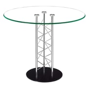 "Zuo® Chardonnay 39"" Tempered Glass Dining Table, Clear"