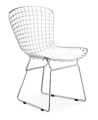 Zuo Leatherette Wire Dining Chairs, Chrome 223168