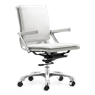 ZuoMD – Chaises de bureau Lider Plus en similicuir, blanc