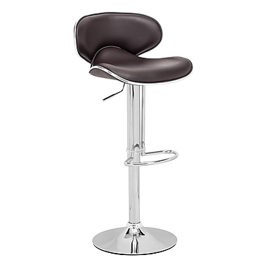 Zuo 32.7'' Contemporary Foot Ring/Bar Faux Leather Bar Stool, Espresso (300133ZUO)