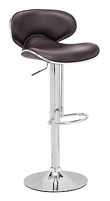 Zuo® Leatherette Fly Barstool, Espresso