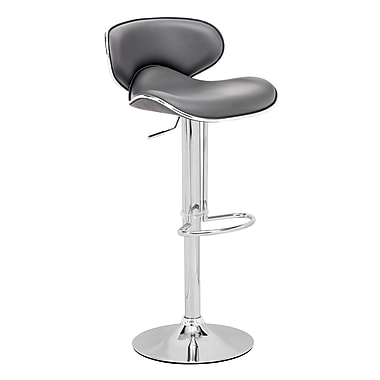 Zuo® Leatherette Fly Barstool, Grey
