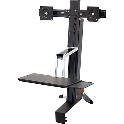 Ergotron® 33-341-200 WorkFit-S Sit-Stand Work Station with Weight Capacity from 12 to 28 lbs, Black