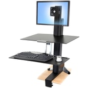 "Ergotron® 33-350-200 WorkFit-S Sit-Stand Workstation For 24"" LCD Monitor"