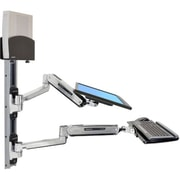 "Ergotron  45-359-026 42"" LX Sit-Stand Wall Mount System for CPU and Keyboard"