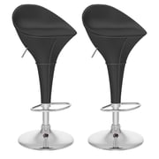 CorLiving™ Leatherette Round Adjustable Bar Stools