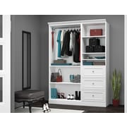 "Versatile by Bestar 61'' Classic Kit with 25"" Drawers, White"