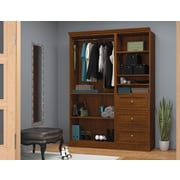"Versatile by Bestar 61'' Classic Kit with 25"" Drawers, Tuscany Brown"