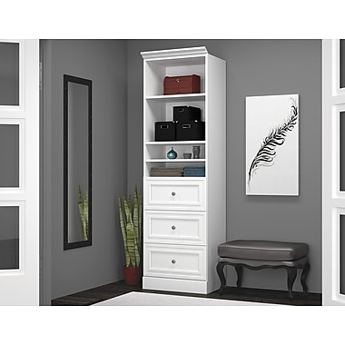 Versatile by Bestar 25'' Storage Unit with Drawers, White