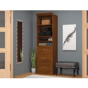 Versatile by Bestar 25'' Storage Unit with Drawers, Tuscany Brown