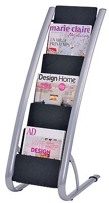 Alba Plastic Floor Display Literature Rack, 6-Pocket