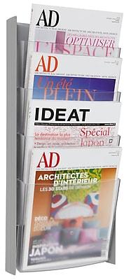 Alba 4 Pocket A4 Wall Document Display, Gray