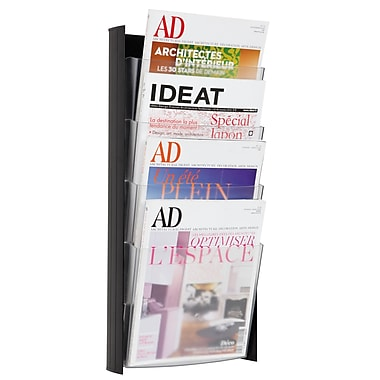 Alba 4-Pocket Wall Document, Letter Size Display, Black