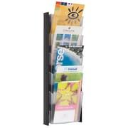 Alba - Porte-documents mural à 5 pochettes, affichage 1/2 format lettre, noir
