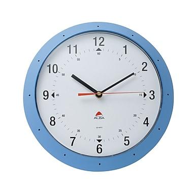 Alba – Horloge murale colorée de 11,80 po, bleu lavande, 6/paq.