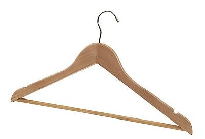 Alba Sturdy Wooden Coat Hanger, Blonde Wood
