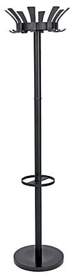 Alba Traditional Floor Coat Stand, Black
