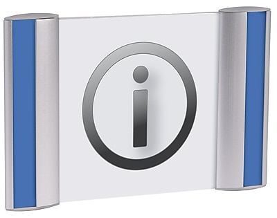 Alba Metal Pictogram Sign Holder for Wall/Door, 5.63